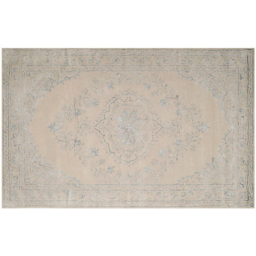Ovid Rug, Light Gray/Ivory