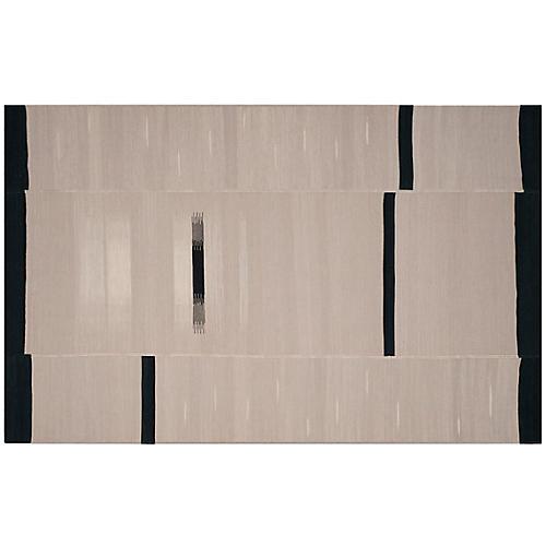 Fowler Flat-Weave Rug, Beige/Black