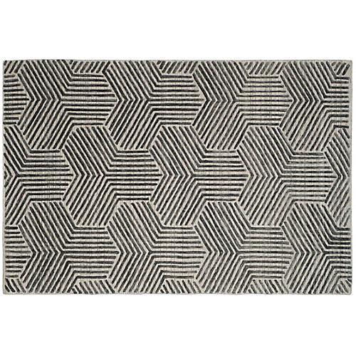 Frazer Rug, Light Gray/Charcoal
