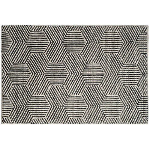 Frazer Rug, Light Gray/Charcoal