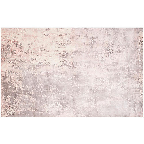 Jetty Rug, Pink/Ivory
