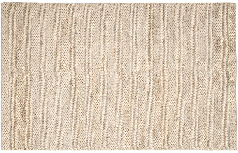 Kilburn Jute-Blend Rug, Ivory