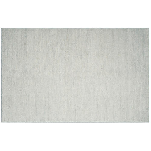 Britt Hand-Knotted Rug, Light Green