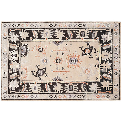 Cannons Rug, Beige/Charcoal
