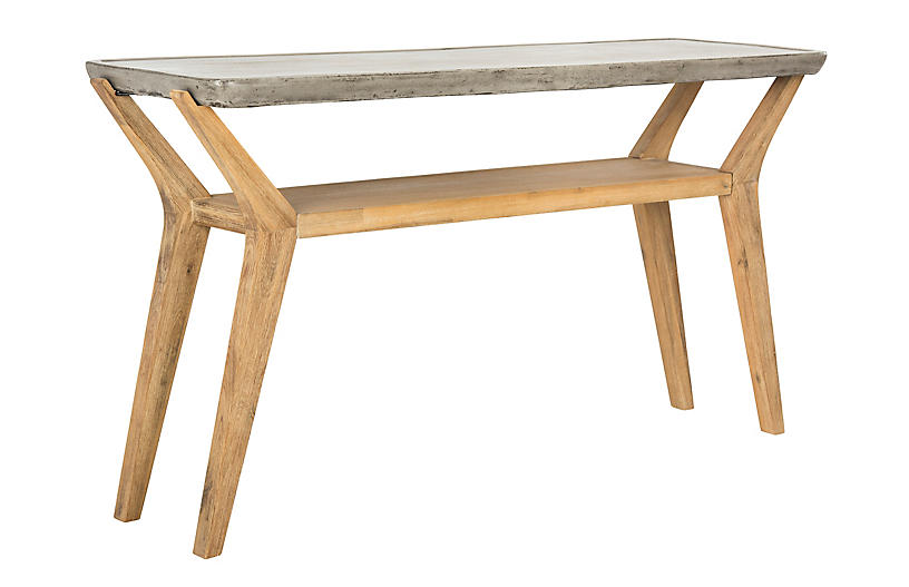 Schultz Console - Natural/Gray