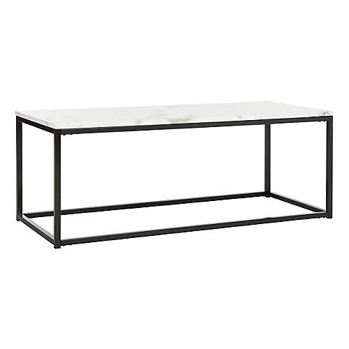 Cuevas Coffee Table, White/Gray