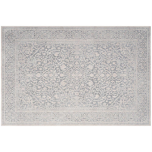 Malawi Rug, Light Gray/Cream
