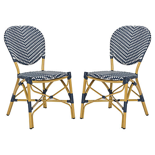 s2 ariel stacking side chairs navywhite