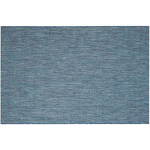 Biscayne Outdoor Rug, Navy/Gray
