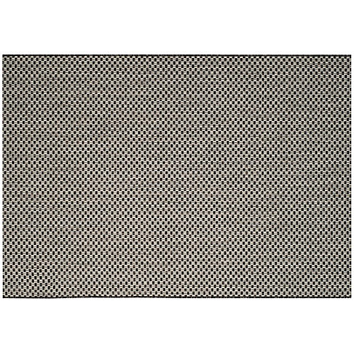 Biscayne Outdoor Rug, Black/Gray
