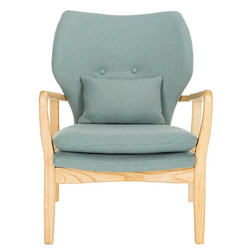 Tarly Accent Chair, Blue