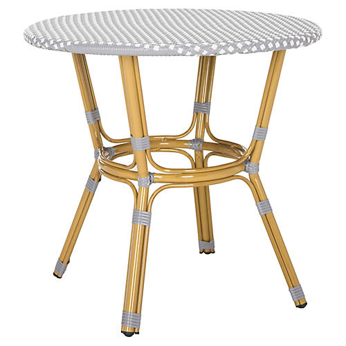 Sidford Bistro Table, Gray/White