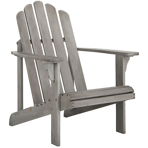Topher Adirondack Chair, Gray