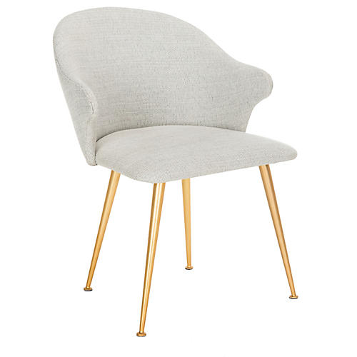 Dunkirk Armchair, Light Gray