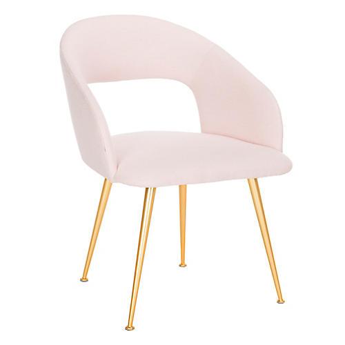 York Armchair, Light Pink