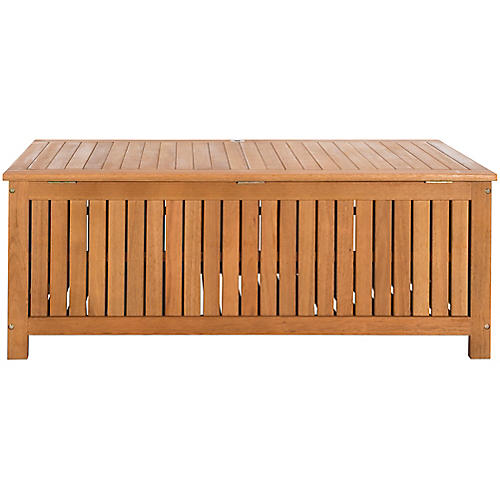 Canberra Outdoor Storage Box, Natural