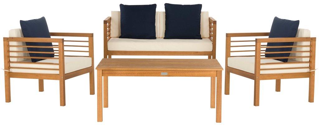 Terrific Perth 4 Pc Outdoor Lounge Set Navy White Download Free Architecture Designs Xerocsunscenecom