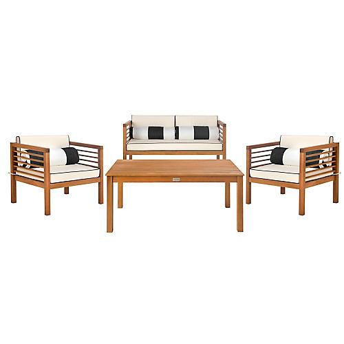 Alda Lounge Set, Black/White