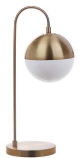 Morina Table Lamp, Brass/White