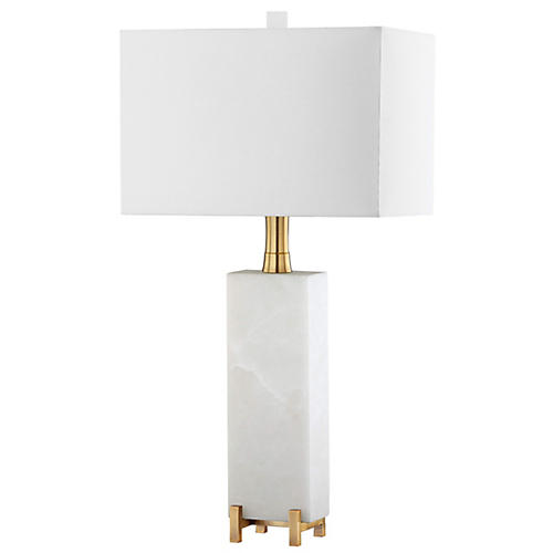 Giostra Alabaster Table Lamp, Natural/Brass