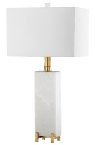 Giostra Alabaster Table Lamp Natural, One Kings Lane Corrine Table Lamp