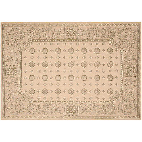 Westcott Outdoor Rug, Natural/Olive