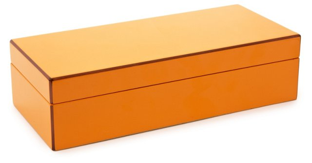 Elle Lacquer Vanity Box, Orange