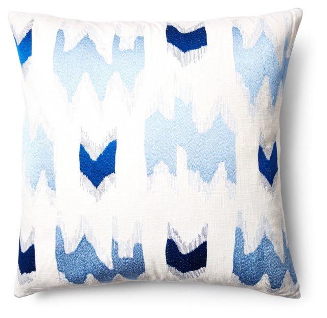 Scandiat 24x24 Linen Pillow, Blue