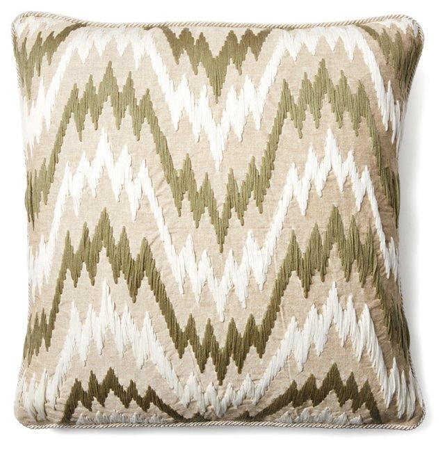 Miami 24x24 Cotton Pillow, Beige