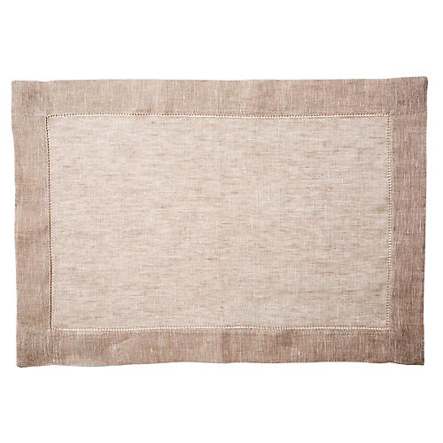 S/4 Lustro Place Mats, Natural