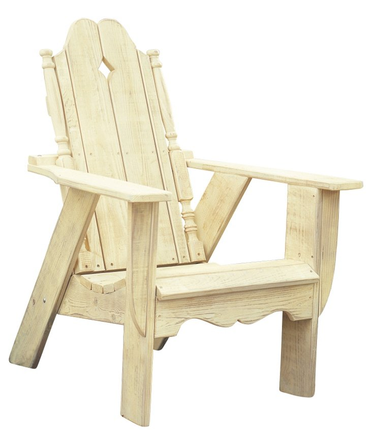 Nantucket Chair, Sunshine Yellow Wash