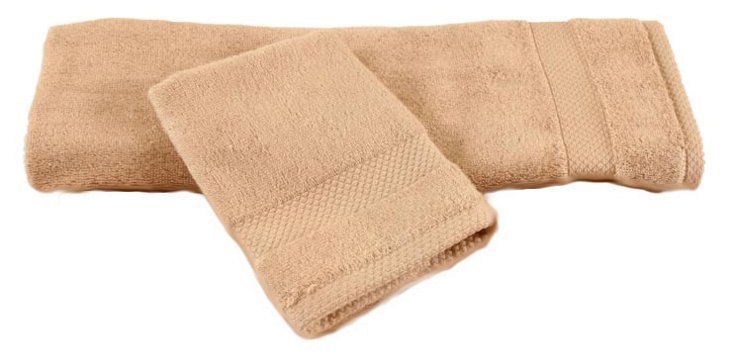2-Pc Bamboo Towel Set, Hazelnut