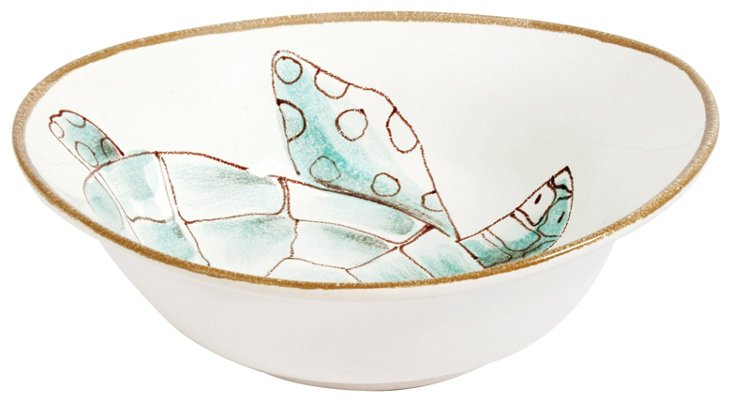 Sea Turtle Oval Serving Bowl
