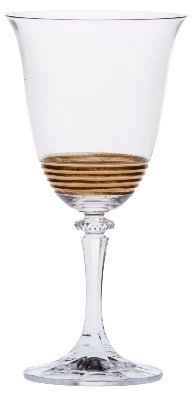 S/4 Eternity Gold Water Glasses