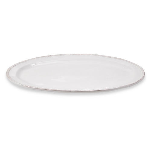 Zip Oval Platter, White