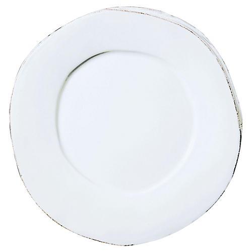 Lastra Dinner Plate, White