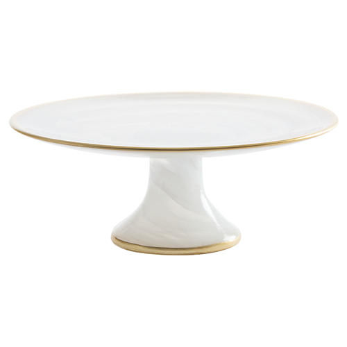 Alabaster White Small Footed Cake Stand