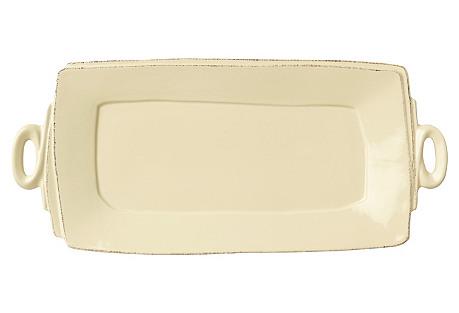 Lastra Cream Rectangular Platter