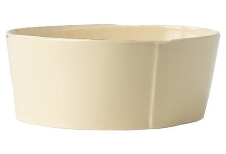 Lastra Cream Medium Serving Bowl