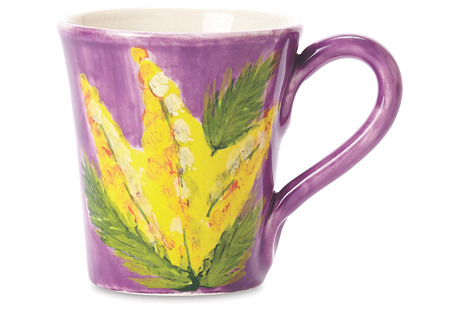 Sara's Bouquet Mug, Cornflower