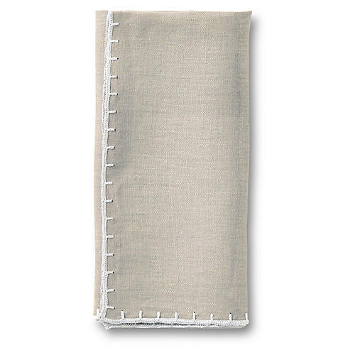 Whipstitch Napkin, Gray
