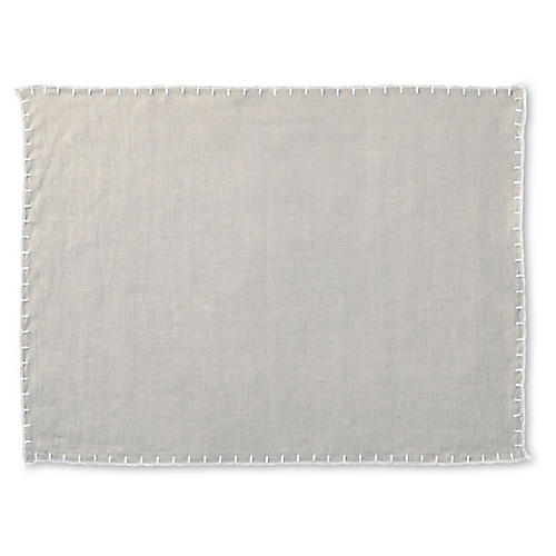 Whipstitch Place Mat, Gray