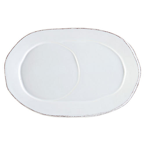 Lastra Oval Tray, White