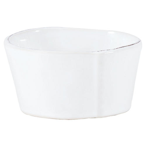 Lastra Condiment Bowl, White