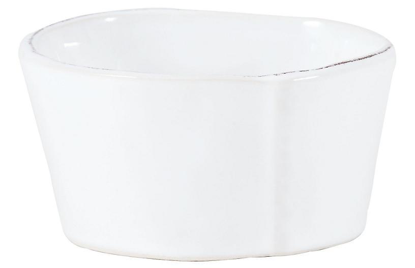 Lastra Condiment Bowl, White