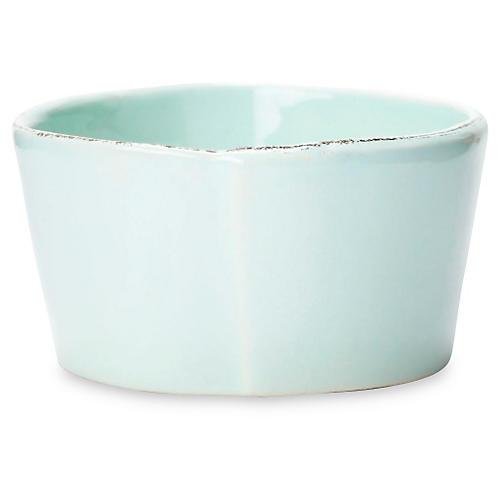 Lastra Condiment Bowl, Aqua