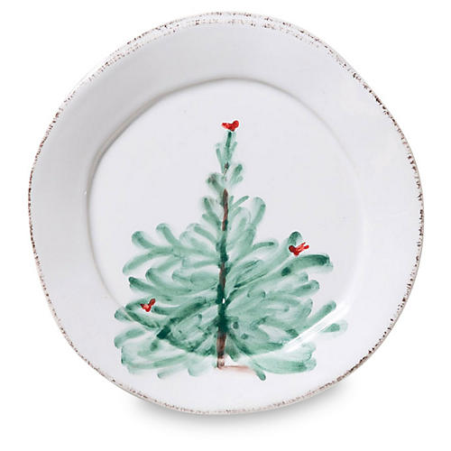 Lastra Holiday Canapé Plate, White