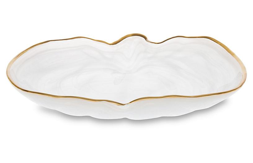 Pumpkin Platter - White - VIETRI
