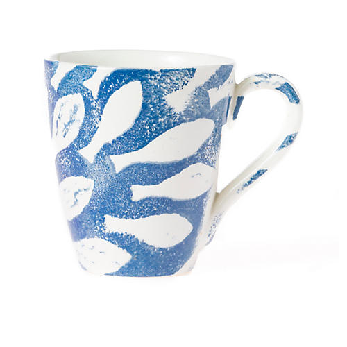 School of Fish Mug, Blue