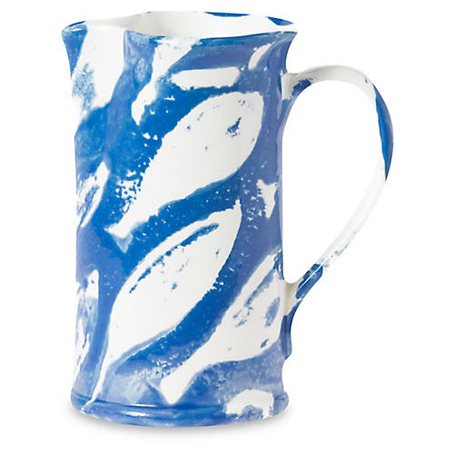 School of Fish Pitcher, Blue